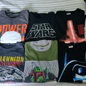 Bundle of 6 Star Wars Shirts All Size Extra Large